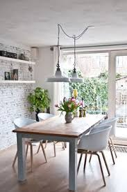 Wallpaper For Dining Room by Dining Room Natural Whites Emilce Pinterest Grey Brick