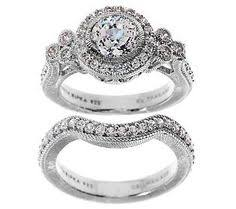 diamonique wedding rings epiphany diamonique 2 15 ct tw 2 pc bridal ring set qvc