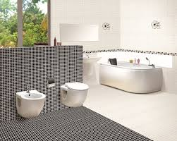 Modern Bathroom Tile Ideas Bathroom With Black And White Floor