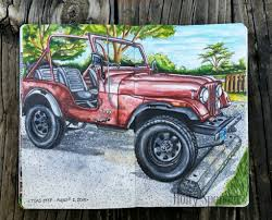 lilac jeep doodlewash guest artist achieving your own botanical so