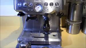 breville bes870xl barista express espresso machine demo review
