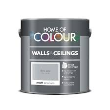 home of colour dove grey matt emulsion paint 2 5l at homebase