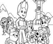 paw patrol rocky marshall coloring pages printable