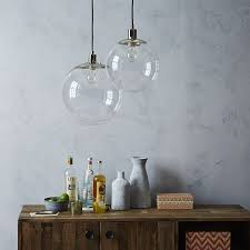 Clear Globe Pendant Light Globe Pendant Clear West Elm