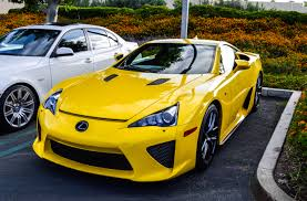 lexus sport car lfa lexus lfa in a mellow yellow autos