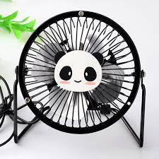 Laptop Desk Fan Hello Pandan Model Usb Ventilator 360 Rotate Metal Mini Fan