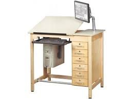 Cad Drafting Table Cad Drawing Table W Storage Drawers Cdt 4230d Drafting Tables