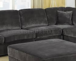 Charcoal Sectional Sofa Luka Sectional Sofa In Charcoal Fabric By Coaster
