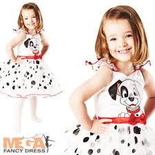 girls 101 dalmation book week disney dog animal fancy dress