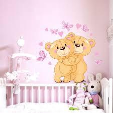 sticker mural chambre fille stickers ourson chambre bébé livraison en 48h