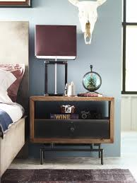 bedroom nightstand next bedside tables small silver nightstand