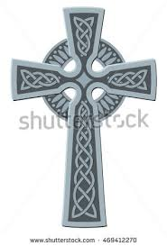 celtic crucifix celtic cross christian symbol vector stock vector 206565691