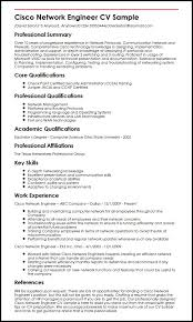 Resume Communication Skills Sample by Cisco Network Engineer Cv Sample Myperfectcv