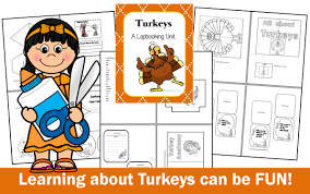 chsh teach lapbooking at thanksgiving learning about turkeys 11
