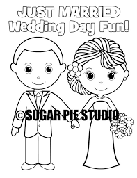 instant download 8 5x11 printable wedding coloring activity