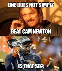 Von Miller Memes - one does not simply beat cam newton one does not simply walk into