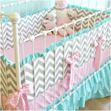 bedroom chevron bedding set blue chevron crib bedding set