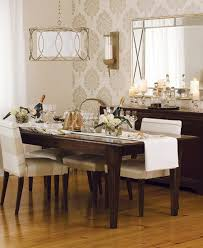Wallpaper Designs For Dining Room This Accent Wall Of Neutral Wallpaper But Added Print Or