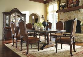 north shore dining table d553 55 dark brown ashley furniture