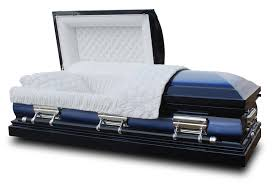 cheap casket legacy deluxe casket midnight blue health