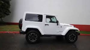 jeep lifted 2 door 2015 jeep wrangler rubicon white fl516432 bellevue seattle