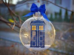 dr who tardis tree ornament