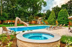 Backyard Pool Designs by Triyae Com U003d Backyard Landscaping Ideas With Pool Various Design