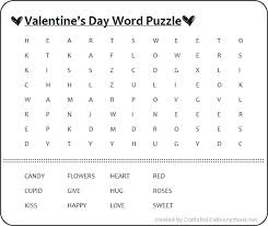 valentine crossword games u0026 printable valentine word search