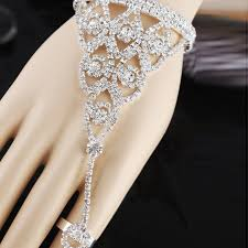bracelet with ring set images Fashion rhinestone silver triangle oval wedding bangle and ring jpg