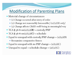 Examples Of Custody Agreements Change Of Child Custody Reversed In Nashville Tn Parenting Plan