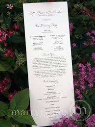 affordable wedding programs wedding programs single sided flat programs fast