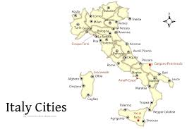 Labeled Map Of Europe by Map Of Italy To See Which Cities To Visit