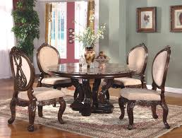 dining room dinette sets with brown carpet and brown round wooden