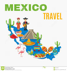 Map Mexico Mexico Map Stock Vector Image Of Honduras Graphing Concept