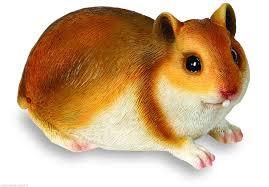 brown hamster garden ornament tc138 resin ebay hamsters