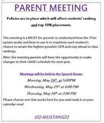 sample invitation letter for parents teacher meeting example