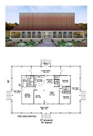 country house plan 45764 total living area 1871 sq ft 3