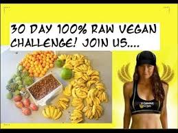 30 days high carb raw vegan challenge raw food diet pinterest