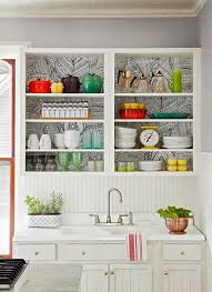remove kitchen cabinet doors for open shelving 31 creative ways to store dishes and utensils that go beyond