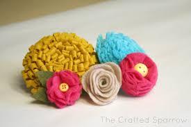 felt flowers felt flowers tutorials 5 to choose from