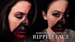 Halloween Special Effects Makeup by Ripped Face Makeup Special Effects Tutorial Halloween