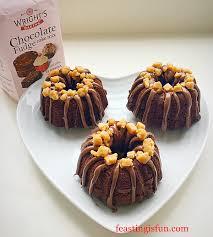 mini chocolate fudge bundt cakes feasting is fun
