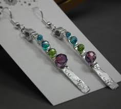 aluminum earrings sparkling aluminum earrings jewelrylessons aluminum