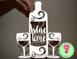 wine glass sayings svg wine and glass papercut template svg dxf cutting file for cricut