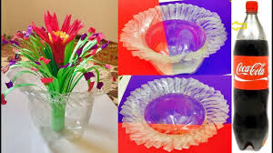 how to make flower vase from waste plastic bottles recycled