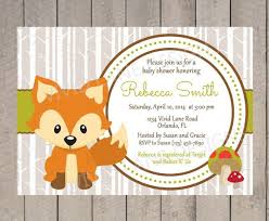woodland baby shower invitations 56 best fox theme baby shower images on shower ideas