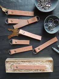 make key rings images 6 gift diy monogrammed leather key rings the everygirl jpg