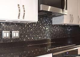 Black Granite Glass Tile Mixed Backsplash by Black Galaxy Backsplash Ideas White Cabinet Backsplash Com