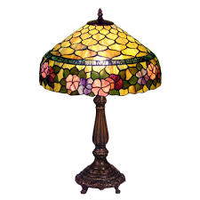 Warehouse Of Tiffany Peony 23 In Bronze Table L With Stained