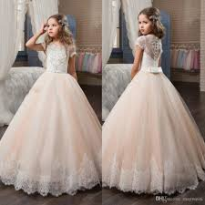 cheap crystal flower girls dresses weddings beads lace